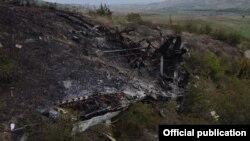Сбитый в Карабахе азербайджанский беспилотник, 28 сентября 2020 г.