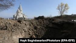 Нагорный Карабах - Церковь Сурб Аменапркич Газанчецоц в Шуши
