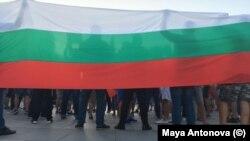 Протестът във Варна.