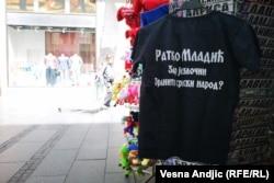 Poruka na majici sa likom Ratka Mladića (4. jun 2021.)
