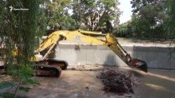 Салгир на ремонте: как проходит реконструкция набережной в Симферополе (видео)