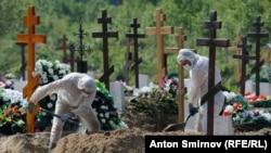 Кладбище для погибших от COVID, Петербург