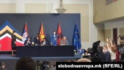 Вучиќ, Заев и рама на Економскиот форум за регионална соработка, Скопје 29 јули 2021