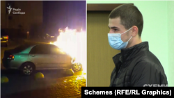 Кирила Баріхашвілі звинувачували у підпалі автівки водія програми «Схеми»