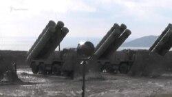 Испытание ракет С-400 в Крыму (видео)