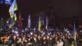 Украин шерушілері гимн айтты