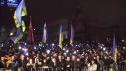 Евромайдан: таңкы төрттө жаңырган гимн