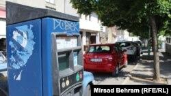 Parkomat u Mostaru van upotrebe