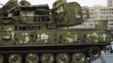 After Nagorno-Karabakh war Azerbaijan Defence Ministry brings Armenian military equipments, tanks and cars to Baku