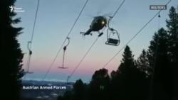 150 застрявших лыжников вытащили с подъемника в Австрии