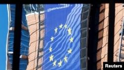 Fațada Comisie Europene, aprilie 2019