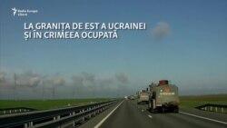 Convoi militar rusesc pe autostrada Tavrida din Crimeea