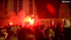 Беспорядки у посольства России в Варшаве
