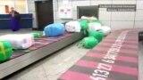 Almaty aeroportunda Aşgabatdan gelen goşlaryň döredýän bulam-bujarlygy