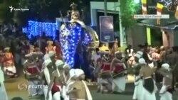 Шри-Ланка: нападение слонов на религиозном празднике (видео)
