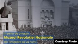 PNL poster, the museum of the Timișoara revolution
