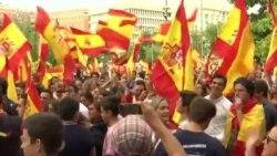 Barselona və Madriddə İspaniyanın birliyinə dəstək aksiyaları
