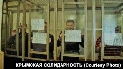 Фигуранты алуштинского «дела Хизб ут-Тахрир» в суде российского Ростова-на-Дону, 23 марта 2021 года