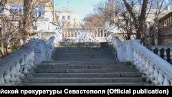 Таврійські сходи в Севастополі, лютий 2021 року