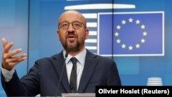Председатель Европейского совета Шарль Мишель. Брюссель, 19 августа 2020 года.