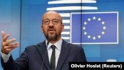 Председатель Европейского совета Шарль Мишель. Брюссель, 19 августа 2020