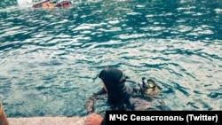 Буксировка затонувшего судна, мыс Фиолент, Севастополь