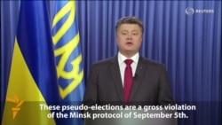 Poroshenko Slams Separatist Vote