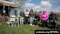 Удзельніцы акцыі ўПухавіцкім раёне, 27 красавіка 2018 году