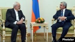 Armenia - President Serzh Sarkisian (R) meets with Iranian Foreign Minister Mohammad Javad Zarif, Yerevan, 27Jan2015.