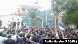 تجمع امام السفارة العراقية في عمان - 22 آيار 2013.