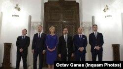 Delegația PNL la consultările de la Palatul Cotroceni, București, 11 octombrie 2019