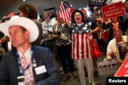 Предвыборный митинг сторонников Трампа в Огайо