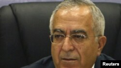The prime minister of the Palestinian government, Salam Fayyad