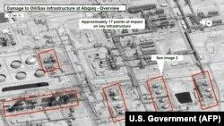 Pamje nga sateliti të rafinerive të sulmuara të naftës në Arabinë Saudite.