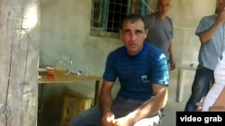Azerbaijan - A screen grab from a mobile-phone video of Karen Petrosian, an Armenian who wandered into an Azerbaijani village and later died in military custody.