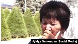 """Зумурат Манапбаева, сүрөт """"Фейсбук"""" колдонуучусу Жылдыз Осмонова жарыялаган видеодон алынды."""