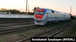 Алматы облысындағы теміржол станцияларының бірі (Көрнекі сурет).