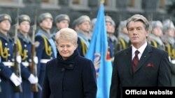Президенти України і Литви, Віктор Ющенка і Даля Ґрібаускайте. 26 листопада 2009 року