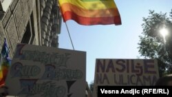 The Serbian gay community says it frequently faces threats and attacks.