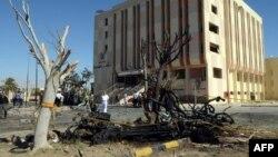 Pamje pas një sulmi të mëparshëm në Sinaj të Egjiptit