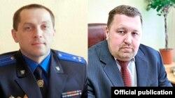 Андрэй Ліс (зьлева) і Сяргей Паско