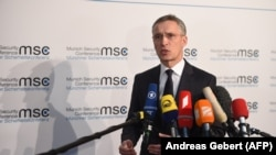 NATO Secretary-General Jens Stoltenberg in Munich on February 16