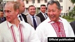 Vladimir Putin və Kurmanbek Bakiev
