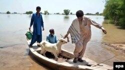 پاکستان کې خلک سیلابونو ځپلي دي