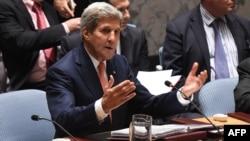 ԱՄՆ պետքարտուղար Ջոն Քերրին նախագահում է ՄԱԿ-ի Անվտանգության խորհրդի նիստը, Նյու Յորք, 19-ը սեպտեմբերի, 2014թ․