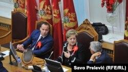 Конститутивна седница на Парламентот на Црна Гора во Цетиње, 11 ноември 2016.