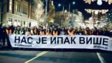 A protest walk on the occasion of the anniversary of the murder of Kosovo politician Oliver Ivanovic in Belgrade