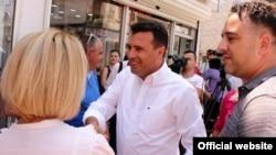 Zaev u Strugi tokom predizborne kampanje na prethodnim lokalnim izborima na kojim je podržao Merka