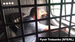 Inside the police van
