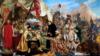 Філон Кміта-Чарнобыльскі трэці зьлева (Ян Матэйка. Сьцяпан Батура пад Псковам. 1872)